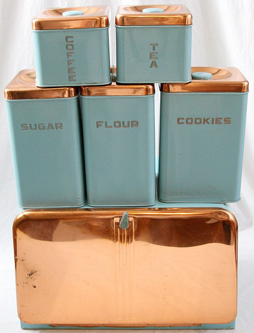 Green Canister Sets Kitchen Lincoln Beautyware Kitchen Canister Set 6 Turquoise Copper