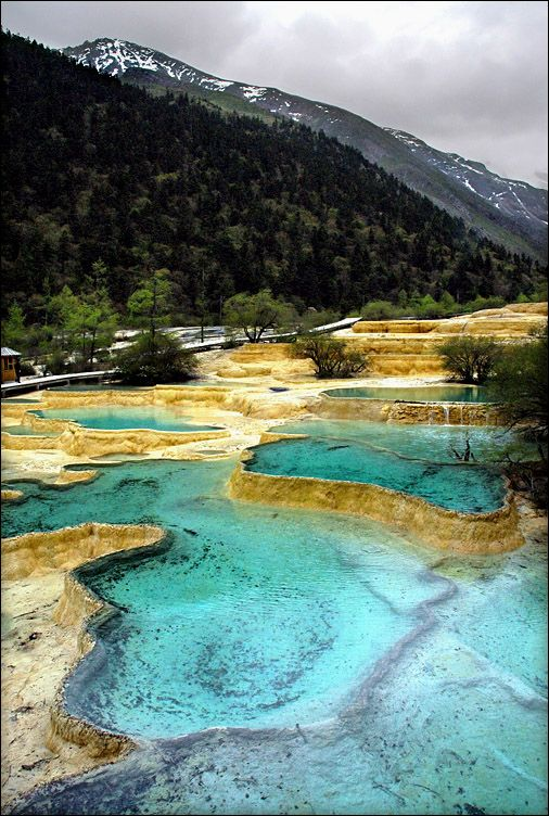 Blue Pools Huanglong, Sichuan, China Places to travel