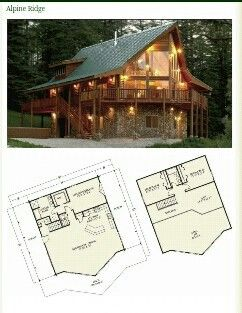 Love This Open Floor Two Story Cabin Log Home Plans Log Homes House Plans