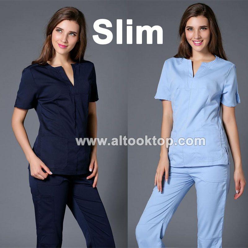 Medico uniformes hospital women medical robe scrubs clothing dental  clinicos beauty salon nurse work wear slim surgical suit spa