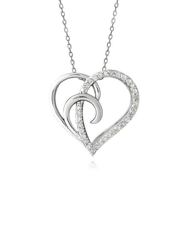 Look at this Sterling Silver & White Diamond Wave Heart Pendant Necklace on #zulily today!
