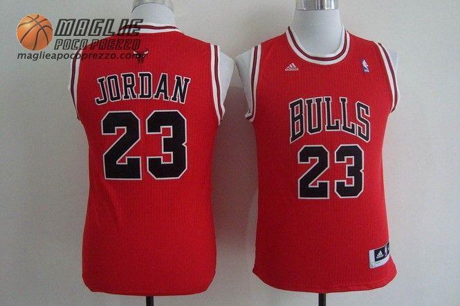 Canotte nba Bambino Chicago Bulls Michael Jordan #23 rosso