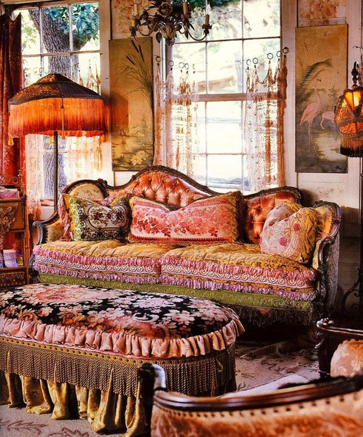 Living Room The Shabby Victorian Magnolia Pearl Ranch In Texas Could Be Made Boho By Including Some Rich Jewel Toned Pillows And Other Accessories