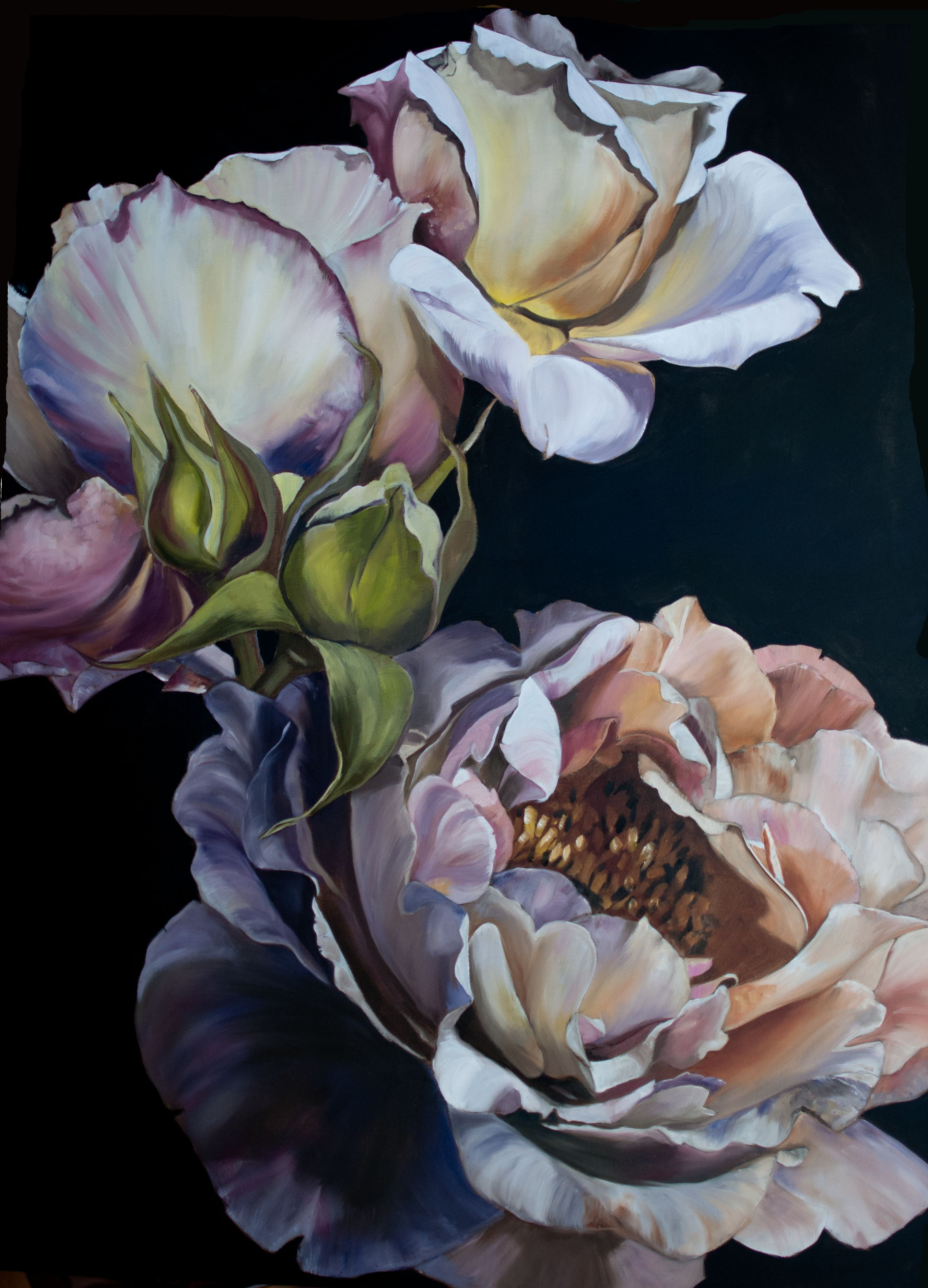 Summer Solstice 112x84 Diana Watson Floral painting