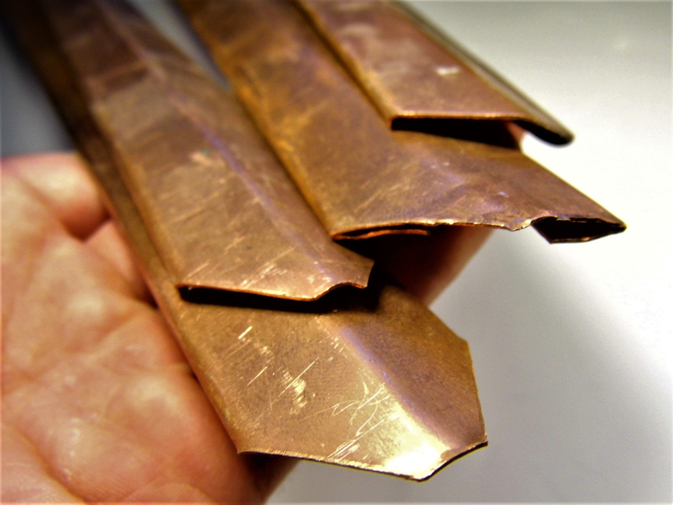 Lot Of 4 Copper Sheet Metal For Crafts Or Jewelry Making 1 Millimeter 410 Grams Craft Supply Blanks Stamping Copper Sheets Metal Working Craft Supplies