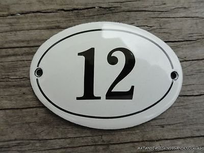 Small Antique Style Enamel Door Number 12 Sign Plaque House Number Furnituresign Retail Logos Lululemon Logo Wayfinding