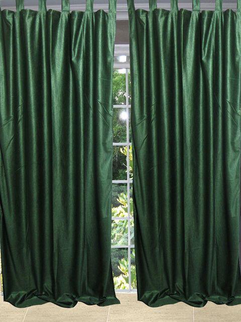 India Curtains Tab Top Sari Green Curtain /Drape/Panel Window Curtain  #mogulinterior #