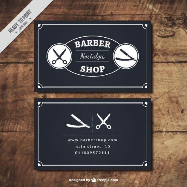 Image Result For Barber Business Cards Vintage