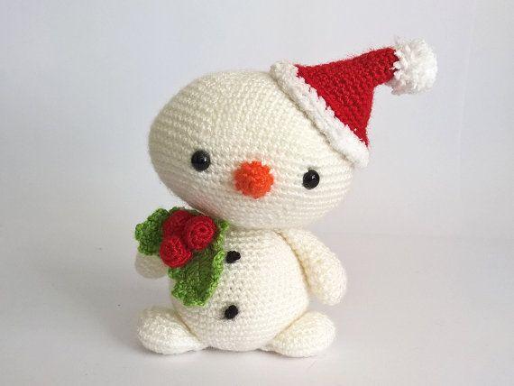 Amigurumi Snowman : Christmas crochet snowman amigurumi snowmen by renatienda on etsy