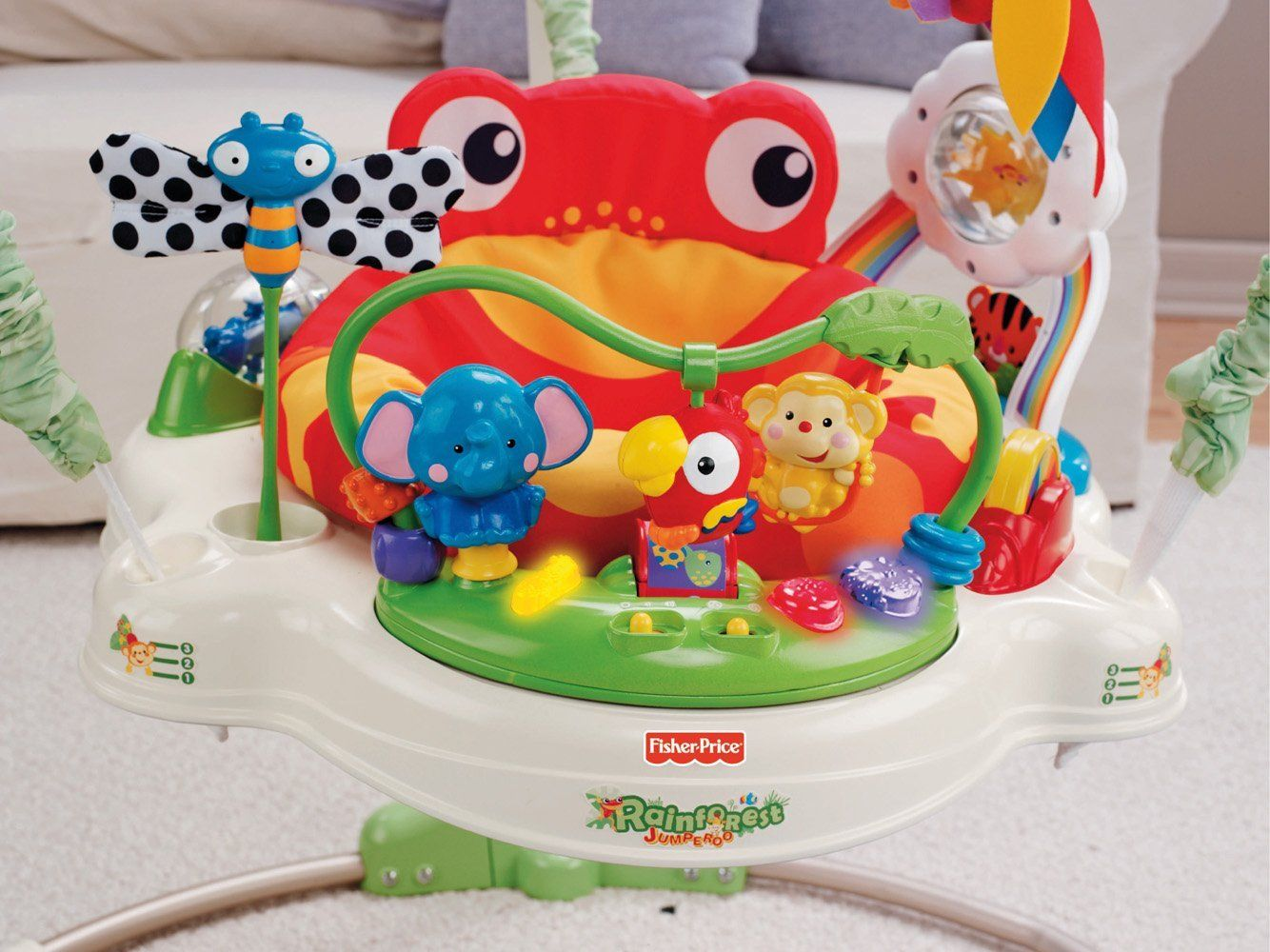 Fisher Price Zoo Jumperoo Baby Toy Jumper Walker Bouncer Jumperoo Baby Sleep New Baby Products Baby Hacks