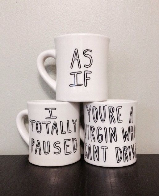 clueless coffee mugs from recycledlovers on etsy!