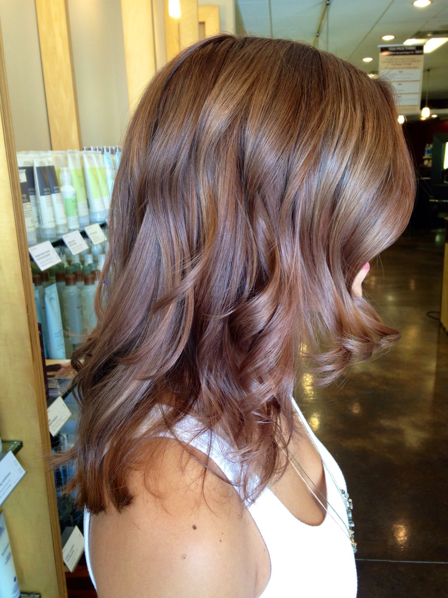 A Warm Dimensional Chestnut Brown With Aveda Full Spectrum Permanent Color Aveda Hair Color Aveda Hair Ginger Hair Color