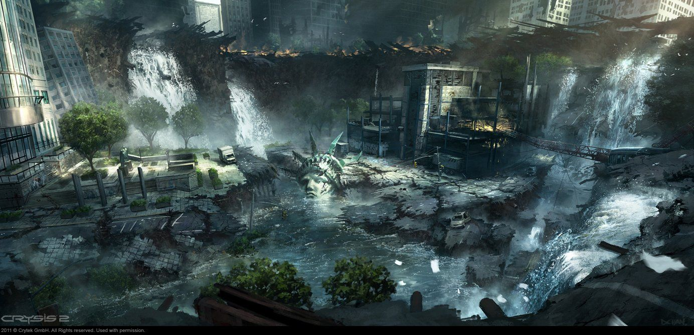 Crysis 2's Concept Art Is A Love Letter To New York City by Dennis Chan and Viktor Jonsson
