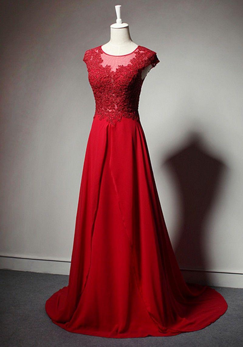 Chiffon prom dressesred evening dressprom dressprom gownsexy