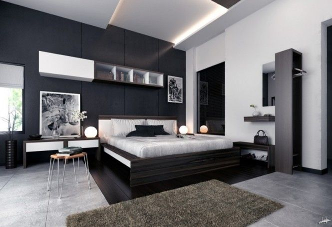 Photographs Monochrome Modern bedroom black and white prints ...
