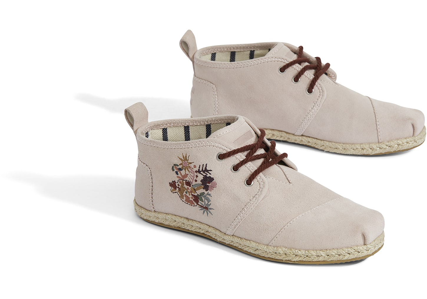 340a452390b57 Toms Blush Suede Floral Women's Bota Boots - 9.5 | Products | Boots ...