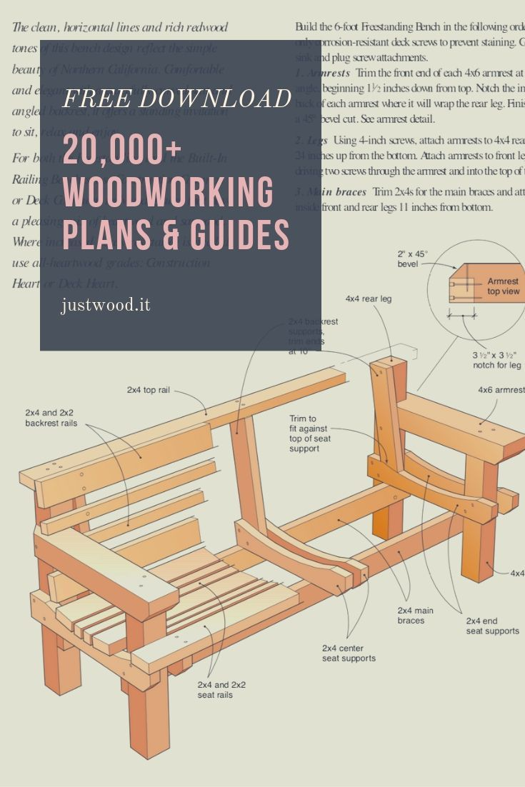 Access more than 2,000 FREE woodworking PDF plans, guides