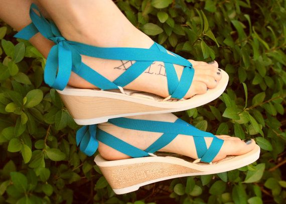 755ad554d9eda Mid Wedge Ribbon Thong Sandal by Mohop | Handmade Vegan Shoes with 5 ...