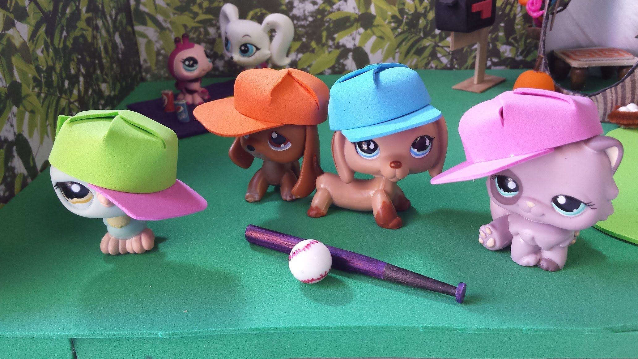 How to Make a Baseball Hat: LPS Doll DIY | Dollhouse DIY Miniatures ...