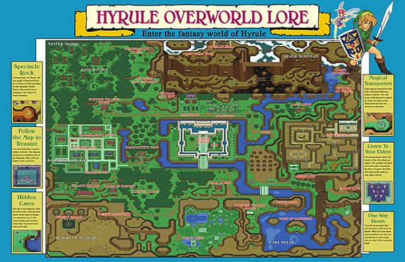 Zelda link to the past map poster geekroom pinterest zelda link to the past map poster gumiabroncs Images