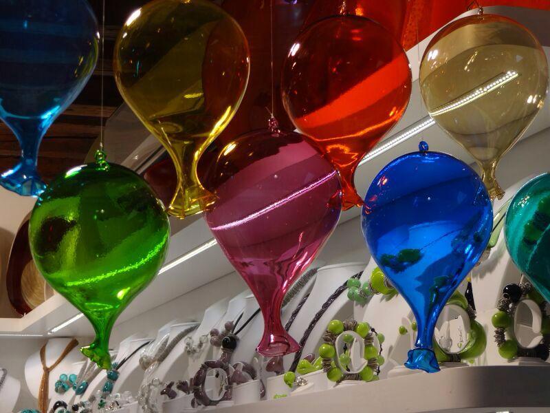 Balões em vidro murano, Veneza, Itália.