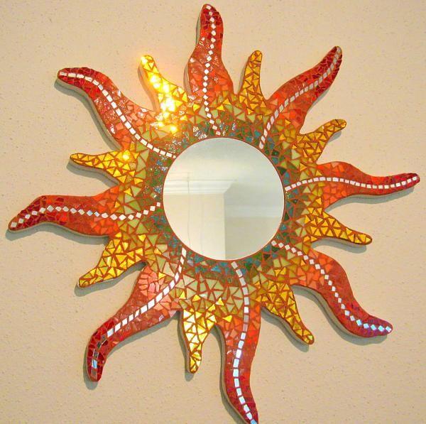 Placa de espejo decoración de mesa espejo mirror Stones D 25cm plata navideña