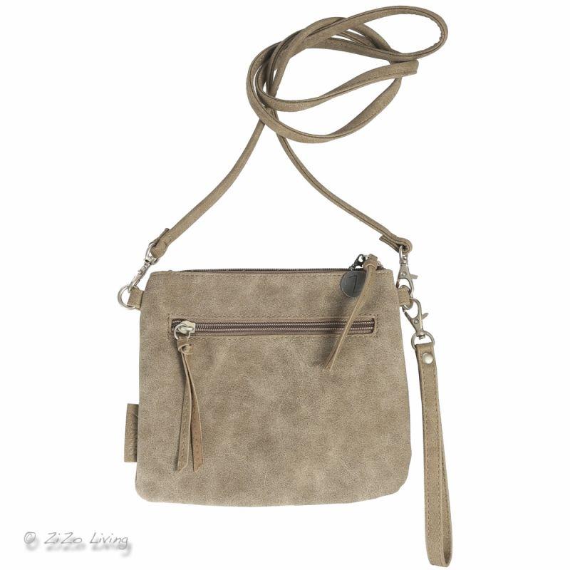 Zusss lief klein tasje voor om de pols of als schoudertas in de kleur nat zand. Ideaal als telefoontasje of voor een avondje uit.