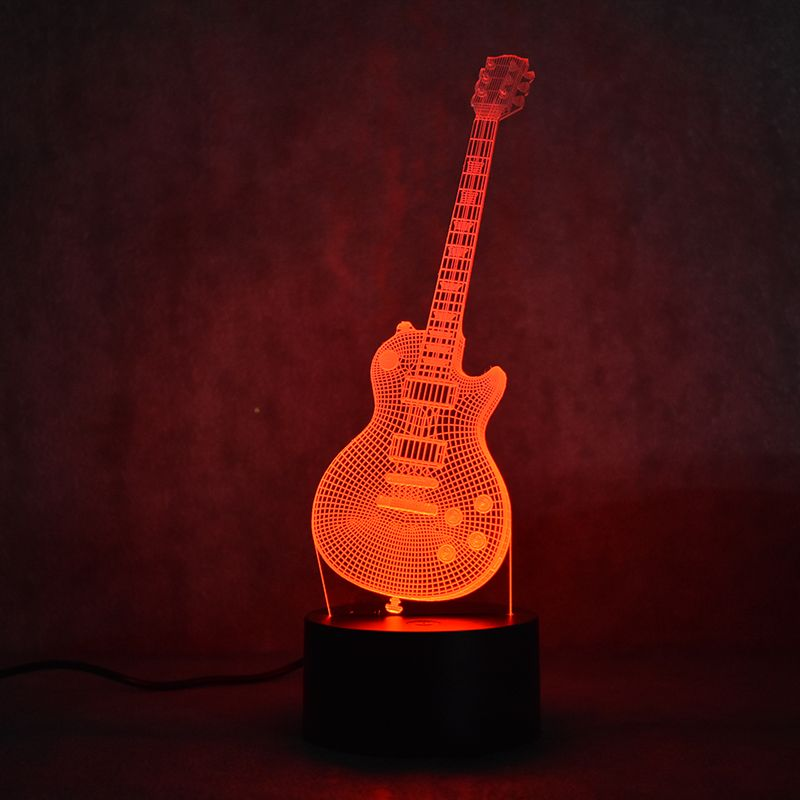 Electric Guitar 3d Led Lamp Guitar Lamp 3d Led Lamp Lamp