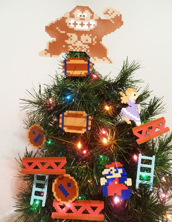 Community Post 45 Awesome Christmas Ornaments Every Video Game Lover Needs Geek Christmas Decorations Geek Christmas Christmas Tree Decorations
