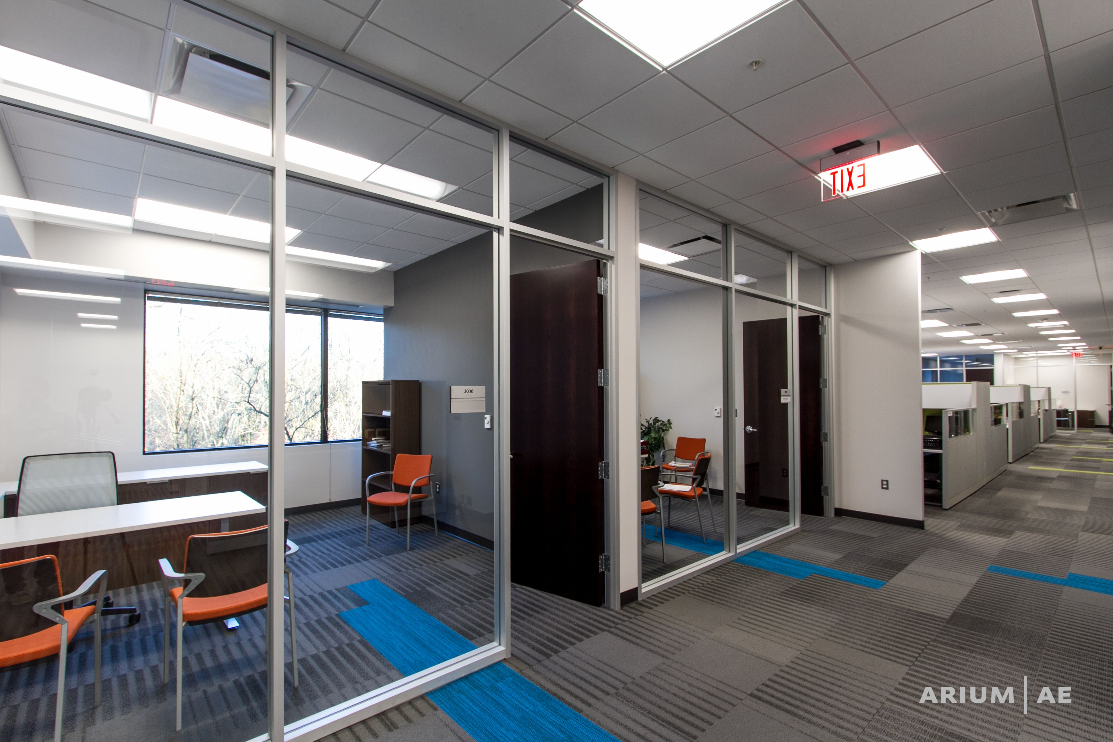 Blue Carpet Tile Accent Glass Wall Offices Carpet Pattern