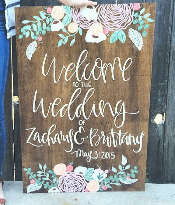 Wedding Sign By @therusticelephant