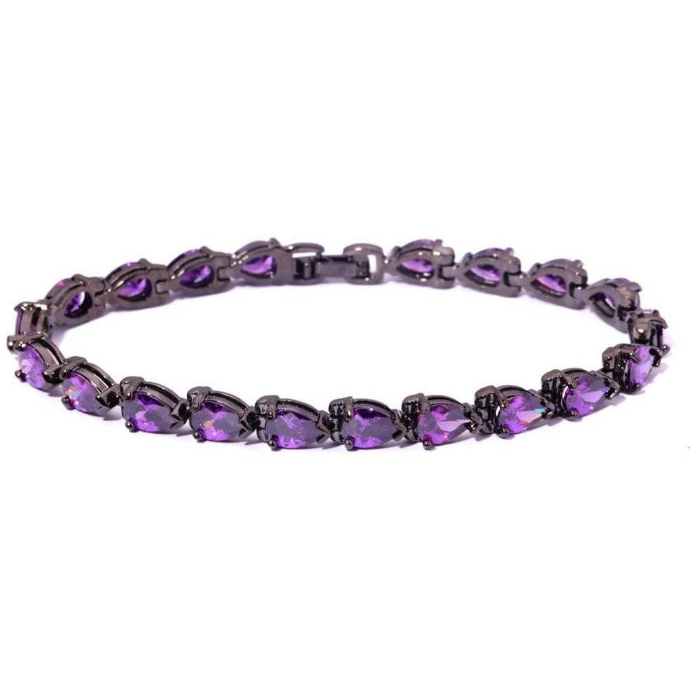 Amethyst black gold bracelets wholesale u retail for fashion women