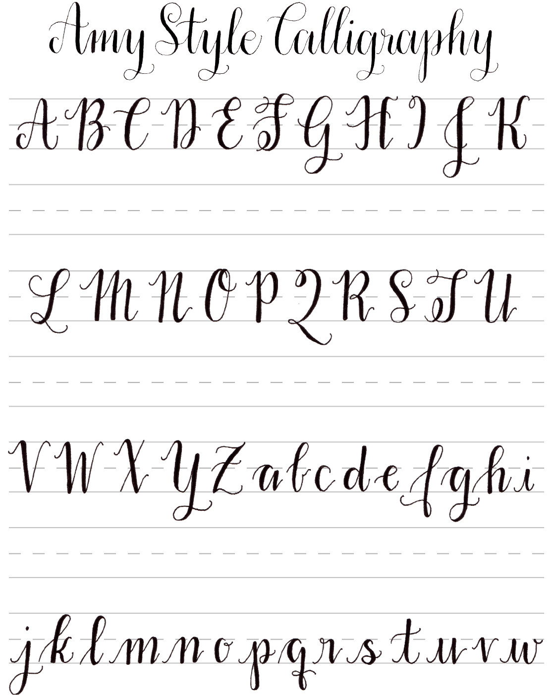 Free Calligraphy Worksheets For Learning Free Calligraphy