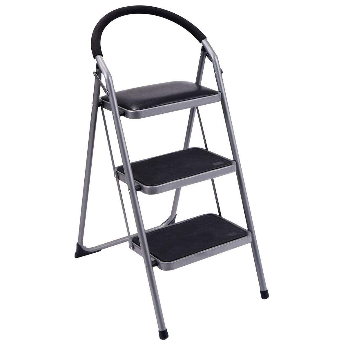 mrt supply lightweight folding stool heavy duty nonslip 3