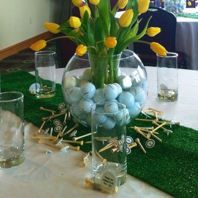Party Decorations Table Centerpieces: Graduation Golf Theme Party: Centerpiece
