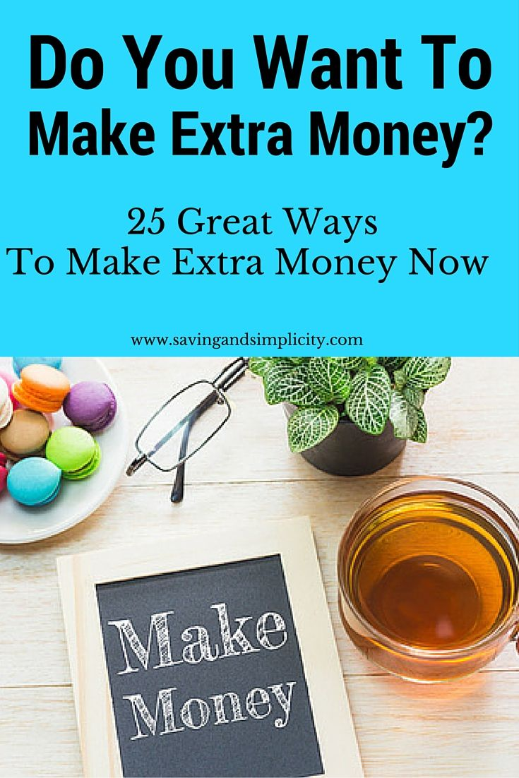 Who couldn't use an extra $25, $100 or and extra $1000 to put towards their goals.  Here are 25 amazing ideas to get you closer to where you want to be.