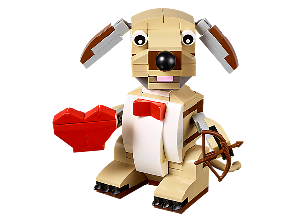 LEGO limited edition Valentine's Cupid Dog | Fun Valentine's gift ideas for kids