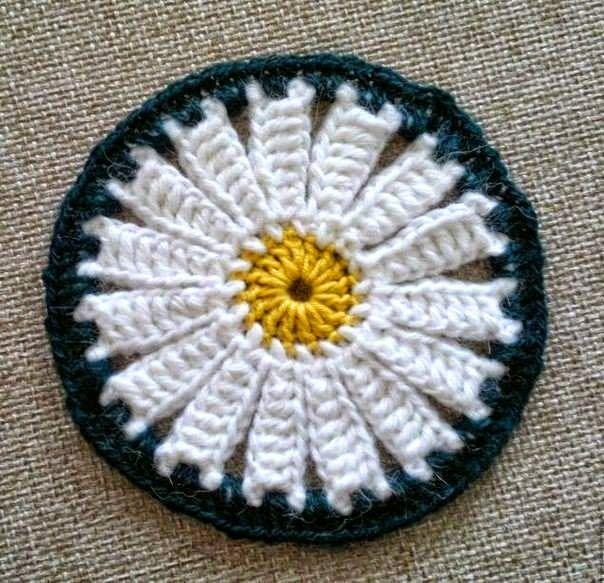 Posavasos circular al crochet - con diagrama y paso a paso en fotos ...