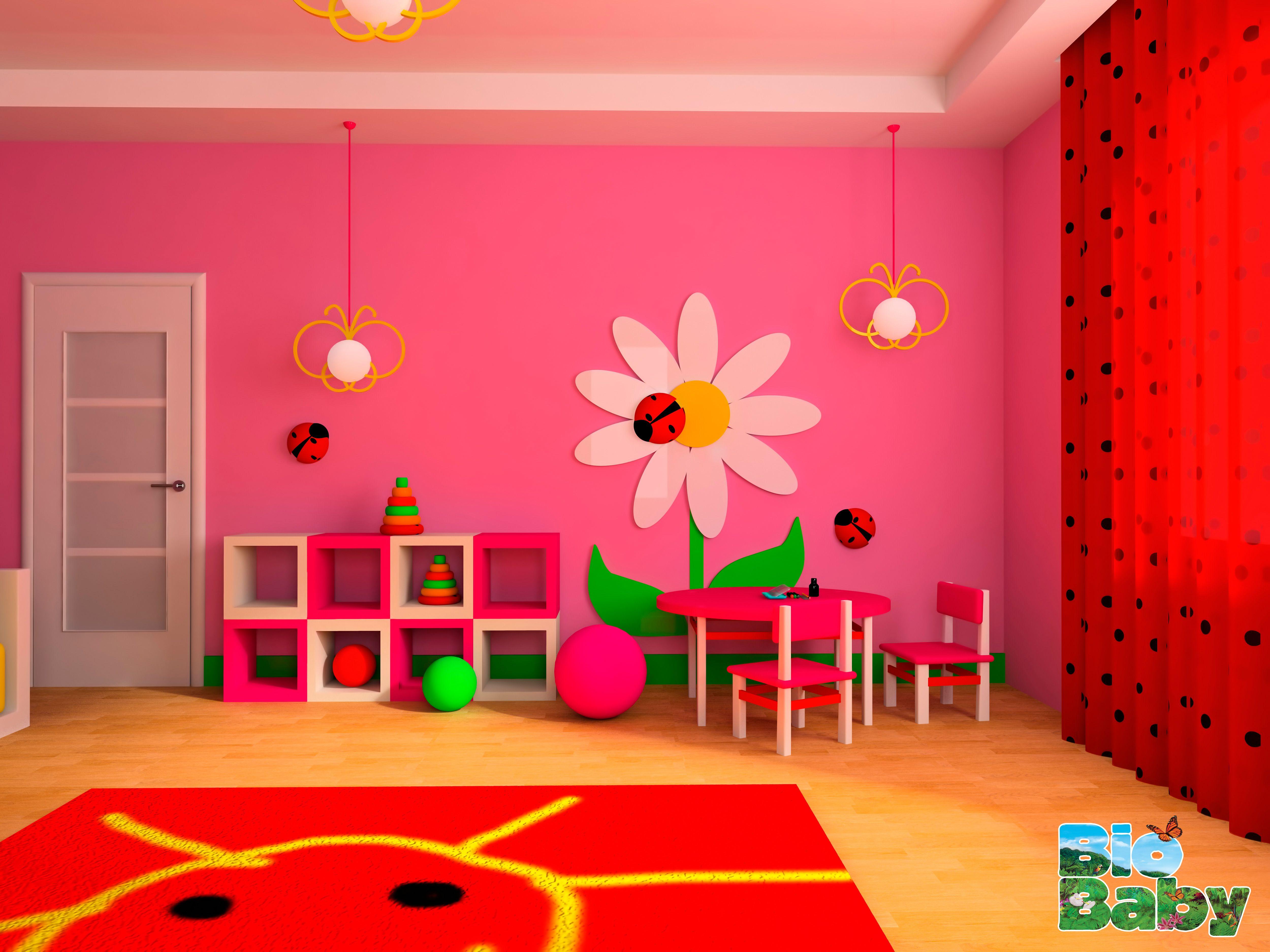 Esta Forma De Pintar Las Paredes De La Habitaci N De La Peque A De  ~ Formas De Pintar Paredes Interiores
