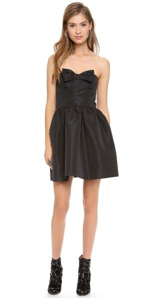 ce26eaf97cc RED Valentino Strapless Bow Mini Dress on shopstyle.com