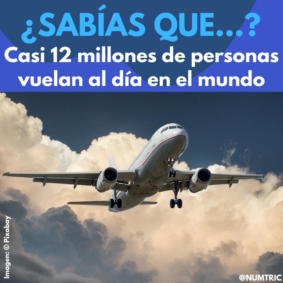 Casi 12 Millones De Personas Vuelan Al Día En El Mundo Aeronave Volar Datos