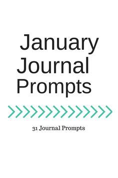 Hello!   January's journal prompts are here just in time for you to get started with them in 2016.   Journaling is a great habit to dev...