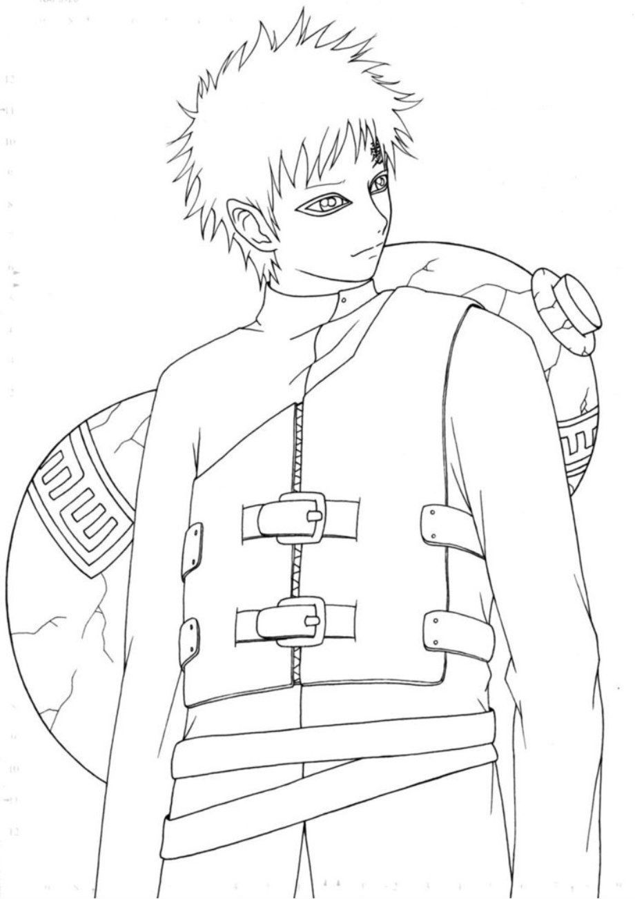Gaara Pose Adult Naruto Pinterest Ausmalbilder And Ausmalen