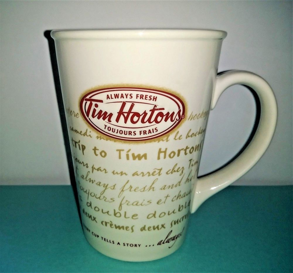 Tim Hortons EVERY CUP TELLS A STORY Ceramic Coffee Mug Cup