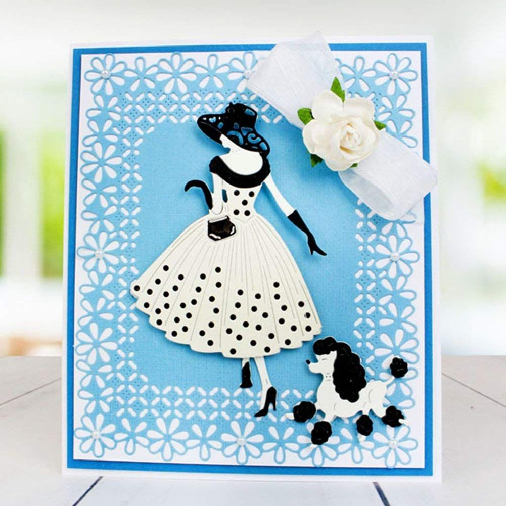 Christmas Cutting Dies for Card Making Die Cuts for DIY Album Template Greeting Card Template