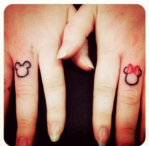 827f06447 Simple Cute Couple Tattoos - Cute Couple Finger Tattoos   Super Cool Bow  Tattoo Designs