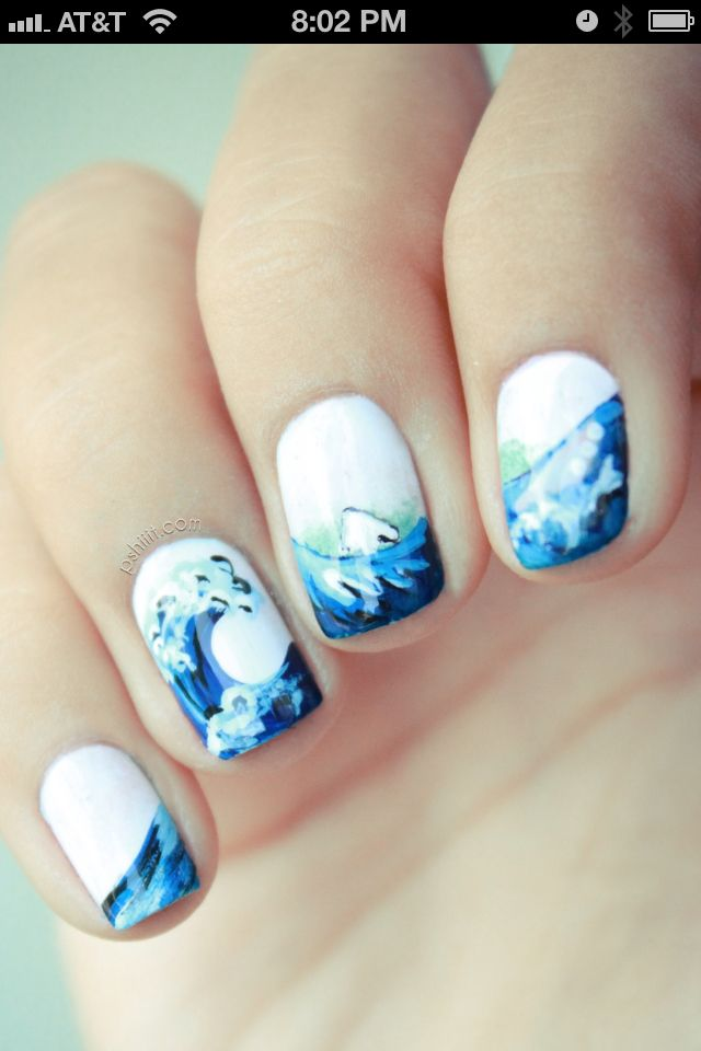 Beautiful Japanese style nail art   Re-Pin Nail Exchange   Pinterest ...