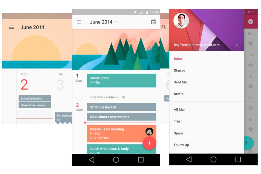 Google Material Design With Images Google Material Design