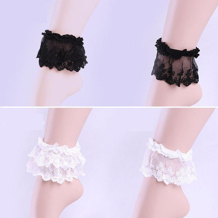 White/Black Lace Socks Cover Wrist Accessory  SP153817