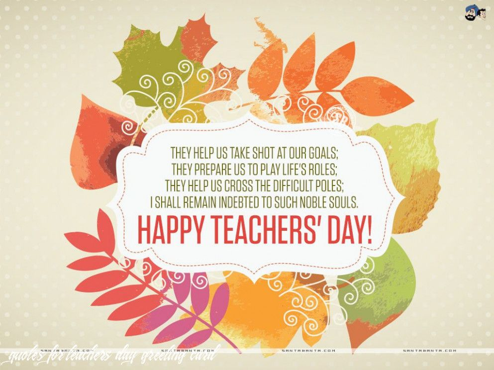 5 Quotes For Teachers Day Greeting Card In 2020 Teachers Day Wishes Happy Teachers Day Card Teachers Day Card